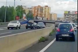 La conductora que entró en dirección contraria en la vía de cintura llevaba un día en Palma