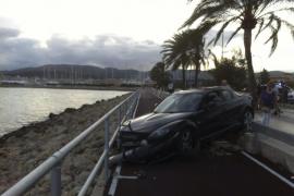 Aparatoso accidente en el Passeig Marítim de Palma