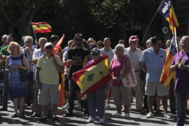 Un centenar de personas se concentra en Palma «contra el pancatalanismo»