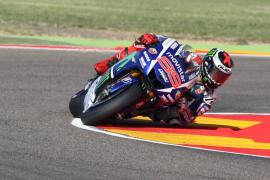 Jorge Lorenzo domina con autoridad la primera jornada en Aragón