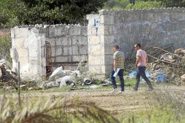 La Guardia Civil inspecciona un solar de Son Ferrer por el 'caso Malén'