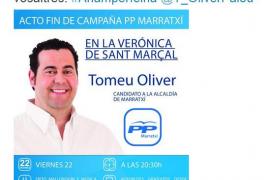 El Ajuntament de Marratxí denuncia que el PP contrató servicios de campaña con cargo al consistorio