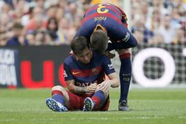 Messi, baja unos dos meses por una rotura de ligamento en la rodilla izquierda
