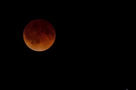 El eclipse lunar y la superluna, seguidos desde el observatorio  de Costitx