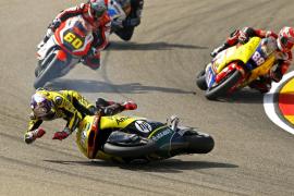 Rabat gana en Moto2 y Salom sufre una caída