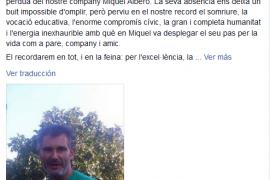 Dolor por el fallecimiento del profesor Miquel Albero