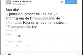 El alcalde de Marratxí hace pública su nómina y su agenda
