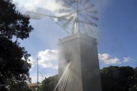 Empieza la restauración del molino del Coll d'en Rabassa, que costará 56.000 €