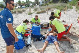 Dos simulacros de emergencia en las Platges de Muro