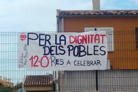 Una pancarta en el IES Marratxí afirma que no hay «nada que celebrar» en el Día de la Hispanidad