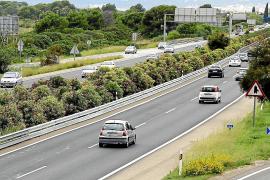 Colocan barreras en toda la mediana del polémico tramo de la autopista de Llucmajor