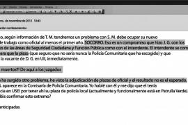 Correos internos revelan el amaño de la asignación de plazas en la Policía Local