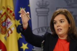 La vicepresidenta no descarta invocar el artículo 155 ante el desafío soberanista