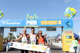 Sebastiana Llabrés y Manuel Wyss, vencedores de la Palma de Mallorca Marathon