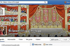 Crean un grupo en las redes sociales a favor de la lírica en el Principal
