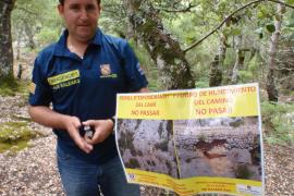 El Govern cierra el paso al acceso de la canaleta del Puig de Massanella por motivos de seguridad