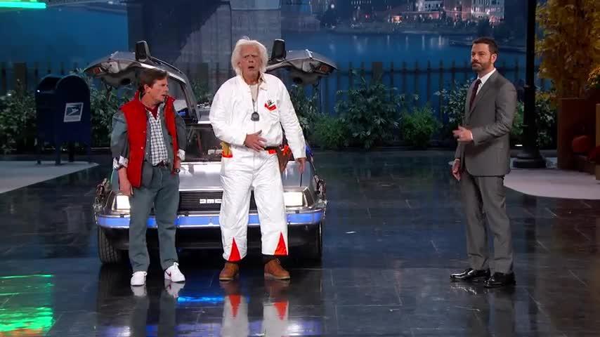 Michael J. Fox y Christopher Lloyd se reúnen en el día de 'Regreso al futuro'