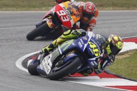 Pedrosa, Márquez y Rossi relegan a Lorenzo a salir cuarto