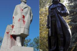 Un artista transforma una estatua de Lenin en Darth Vader