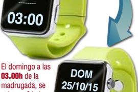 La próxima madrugada, el reloj se retrasa una hora y a las 03.00 serán las 02.00, con el horario de invierno