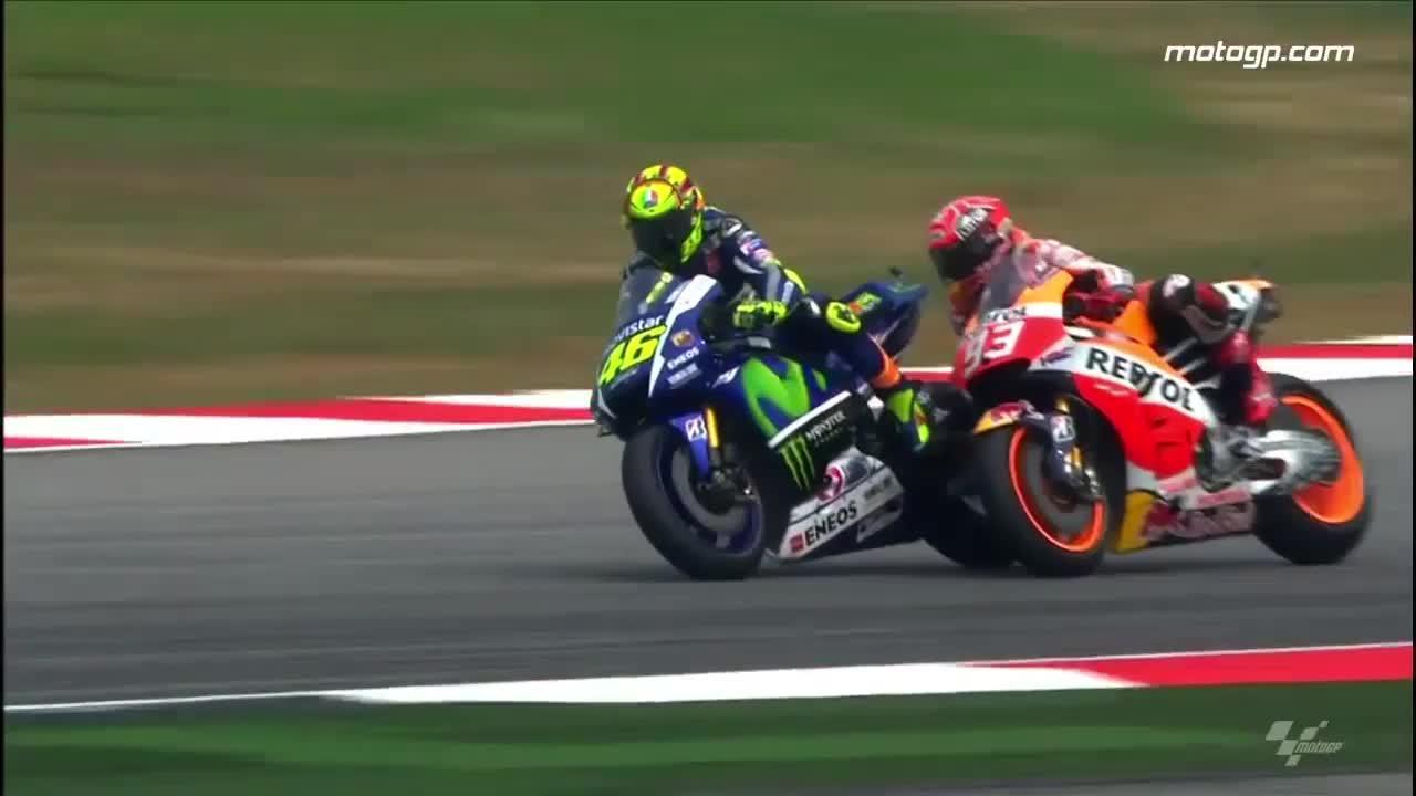 Rossi, sancionado, saldrá último en Valencia
