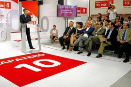 Zapatero, eufórico: «Estamos mucho mejor de lo que parece y lo vais a vivir»
