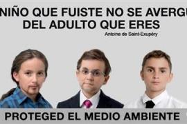 Greenpeace vuelve niños a los candidatos del 20D