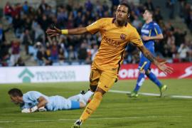 Sergi Roberto asiste a Neymar y Luis Suárez en la victoria del Barça
