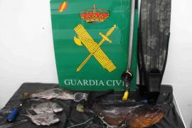El Seprona imputa a varias personas por pesca furtiva y capturar especies protegidas