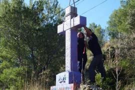 El Ajuntament de Sóller derriba la cruz de Muleta