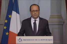 Hollande: «Los atentados son un acto de guerra del Estado Islámico»