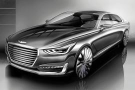 Hyundai Motor ha revelado el primer boceto del G90