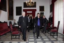 Armengol asiste a la reunión  del Patronato de la Fundación Santuario de Lluc