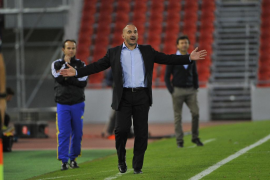 'Chapi Ferrer' durante el partido ante el Lugo