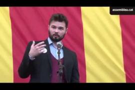 Rufián a la CUP: «Sin Mas no habrá independencia»