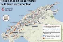 El Consell ejecuta una batería de actuaciones para acondicionar las carreteras de la Serra