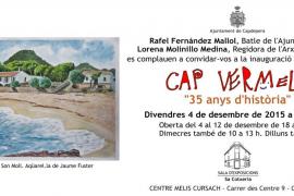 Cartel de la exposición de los 35 años de historia de Cap Vermell