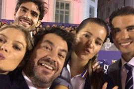 Nadal se luce junto a Malena Costa en un acto promocional en Madrid