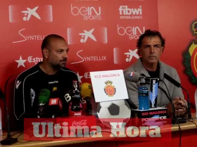 Gálvez sabe que sólo tiene «tres partidos» para hacer reaccionar al Mallorca
