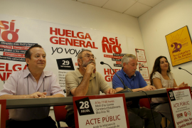 Toxo y Méndez buscan apoyos en Palma para la huelga general de septiembre