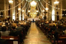 Los Blauets y la Orquestra de Cambra de Lluc, en el recital navideño de Sa Nostra