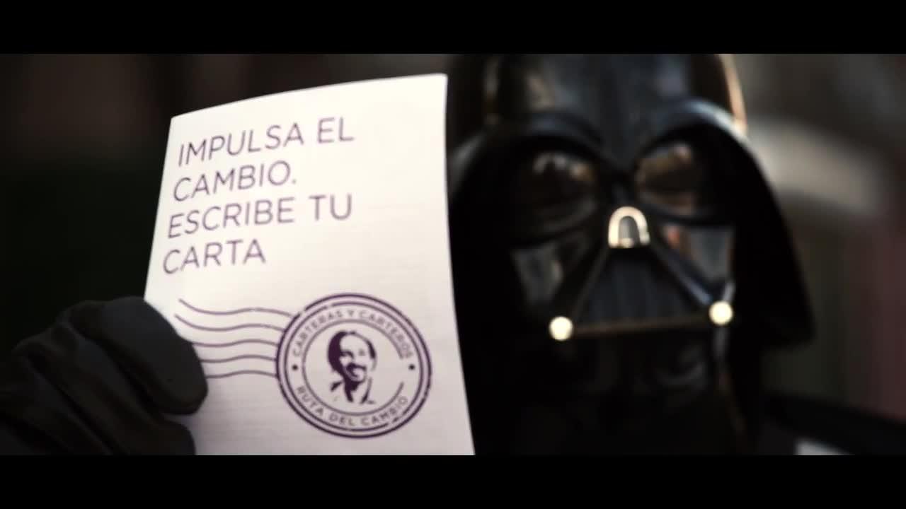 Darth Vader rompe el carné del PP en el nuevo spot de Podemos