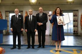 El Cuarteto para el Diálogo Nacional en Túnez recibe el Nobel de la Paz
