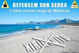 Campaña de recogida de firmas contra el chiringuito previsto en Son Serra de Marina