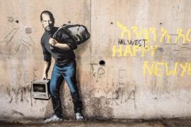 Banksy pinta a Steve Jobs como un refugiado sirio