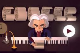 Ayuda a Beethoven a ordenar sus partituras en el doodle de Google