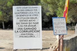 El Ajuntament de Campos clausura por ilegal uno de los aparcamientos de ses Covetes