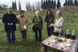 El Ajuntament de Inca dona el aceite obtenido de los olivos del Serral de ses Monges
