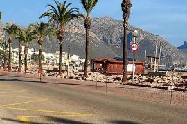 Denuncian que las obras para peatonalizar la primera línea del Port de Pollença están paradas