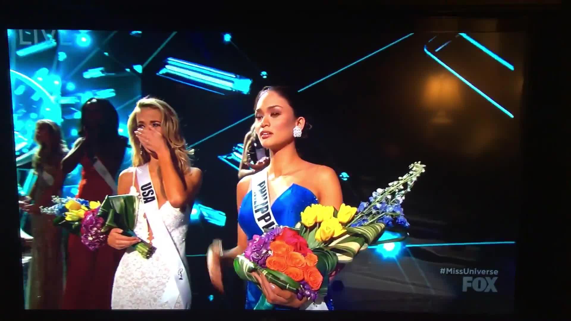El presentador de Miss Universo se equivoca de ganadora